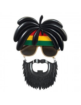 Glasses Jamaican Rasta With Beard ST0581