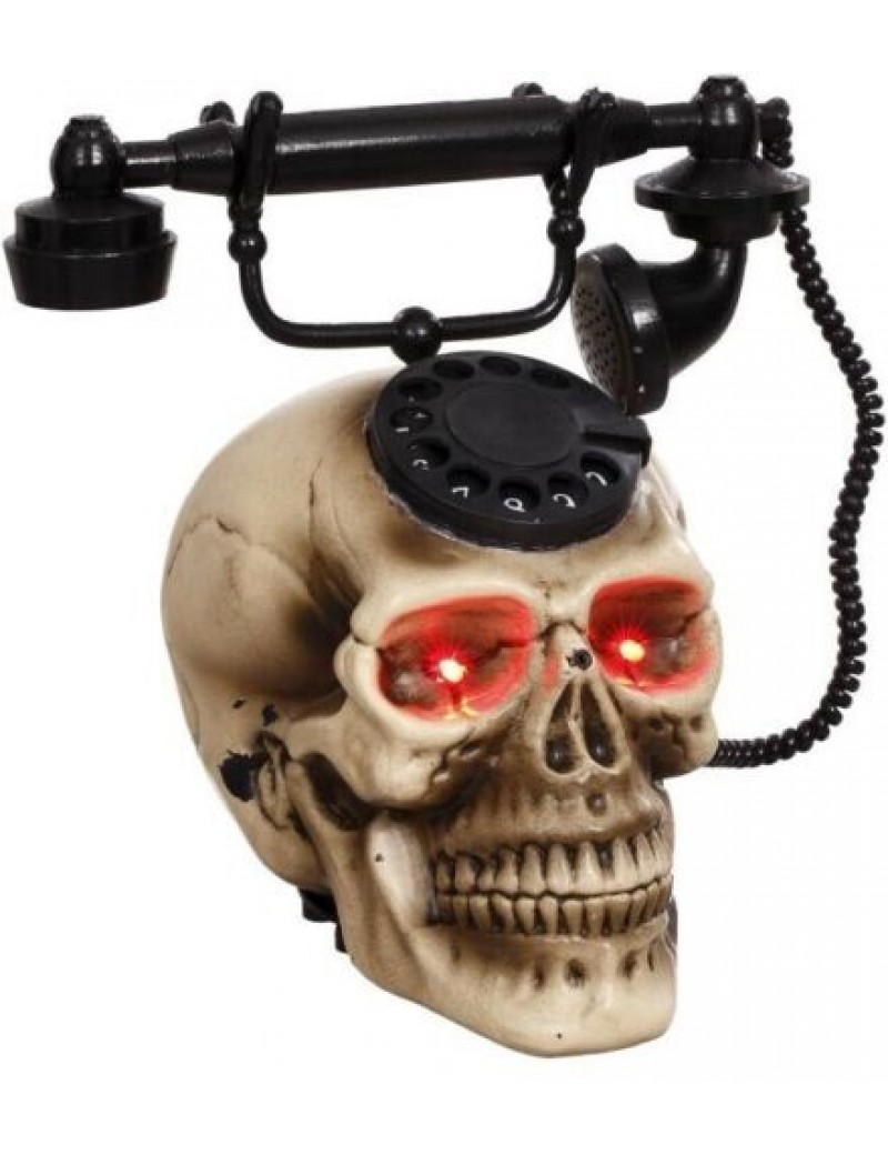 Skull Animated Vintage Telephone