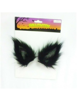 Clip In Wolf Ears Black