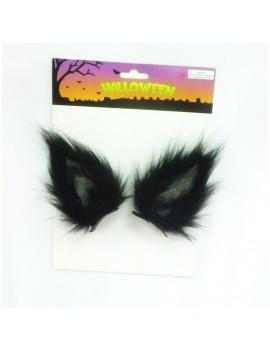 Clip In Wolf Ears Black