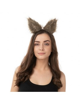 Clip In Wolf Ears Brown
