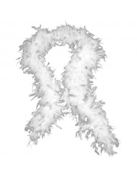Feather Boa White Stylex party ST4940