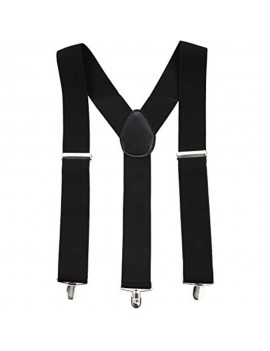 Braces Black Clip On Suspenders Stylex Party ST0843