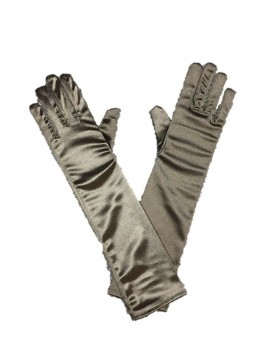 Gloves Black Satin Long ST3004