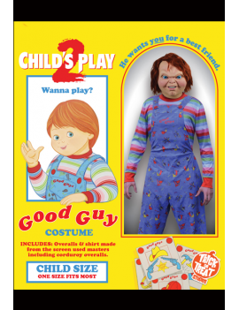 Childs Play 2 Good Guys Deluxe Kids Chucky Costume Trick Or Treat Studios GZUS101