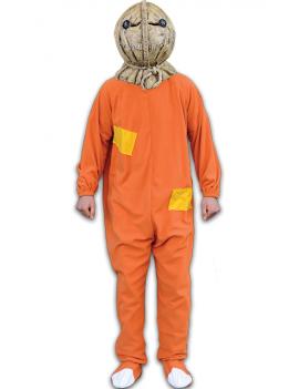 Trick r Treat Sam Burlap Adult Pumpkin Costume And Mask
