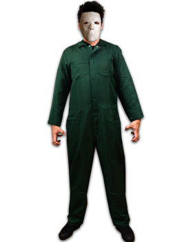 Halloween II Michael Myers Adult Costume Coveralls And Mask