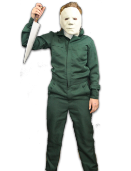 Halloween II Michael Myers Kids Costume Coveralls And Mask