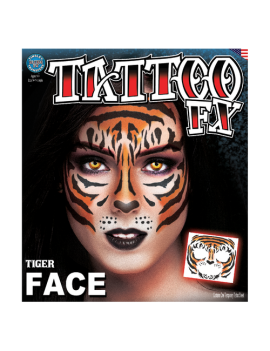 Face Tiger temporary tattoo Tinsley transfers FC-508