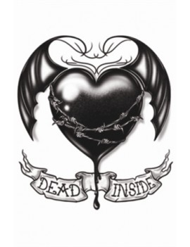 Gothic Dead Inside temporary tattoo Tinsley Transfers GTH-212