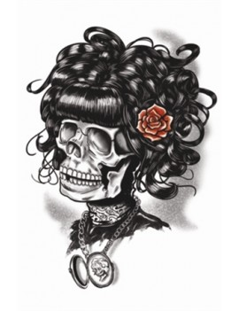 Gothic Doris The Dead temporary tattoo Tinsley Transfers GTH-210