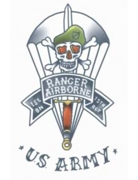 Military U.S. Army Ranger Temporary Tattoo