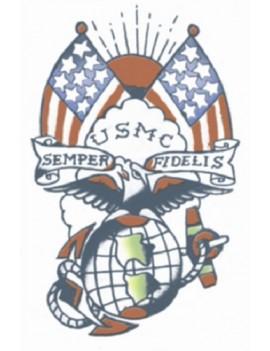 Military U.S.M.C Semper Fi Temporary Tattoo