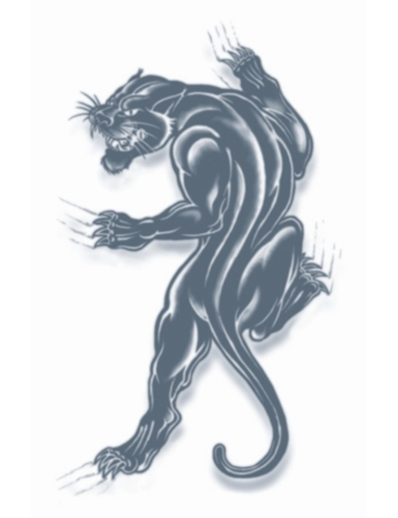 Prison panther temporary tattoo Tinsley Transfers PR-305