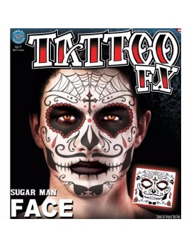Face Sugar Man temporary tattoo Tinsley Transfers FC-809