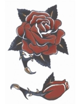 Vintage rose 1940 temporary tattoo Tinsley Transfers VT-115