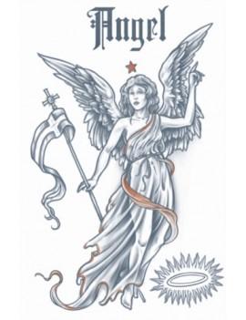 Vintage Angel 1910 Temporary Tattoo