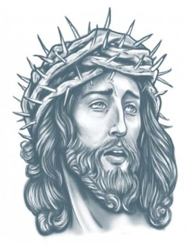 Prison Jesus temporary tattoo Tinsley Transfers PR-306