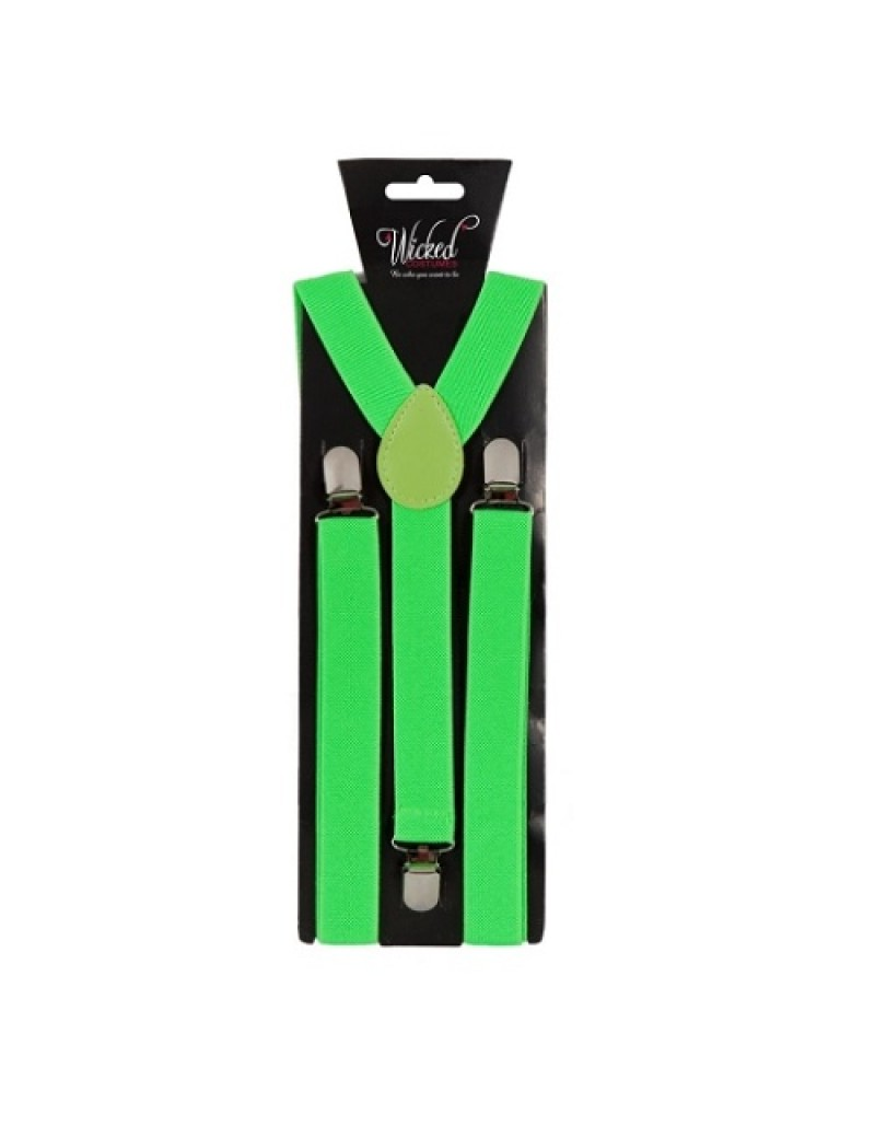 Neon Lime Green Clip On Braces