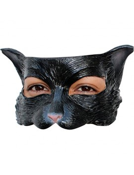 Cat Kitty black latex eye mask Ghoulish productions GH-25009