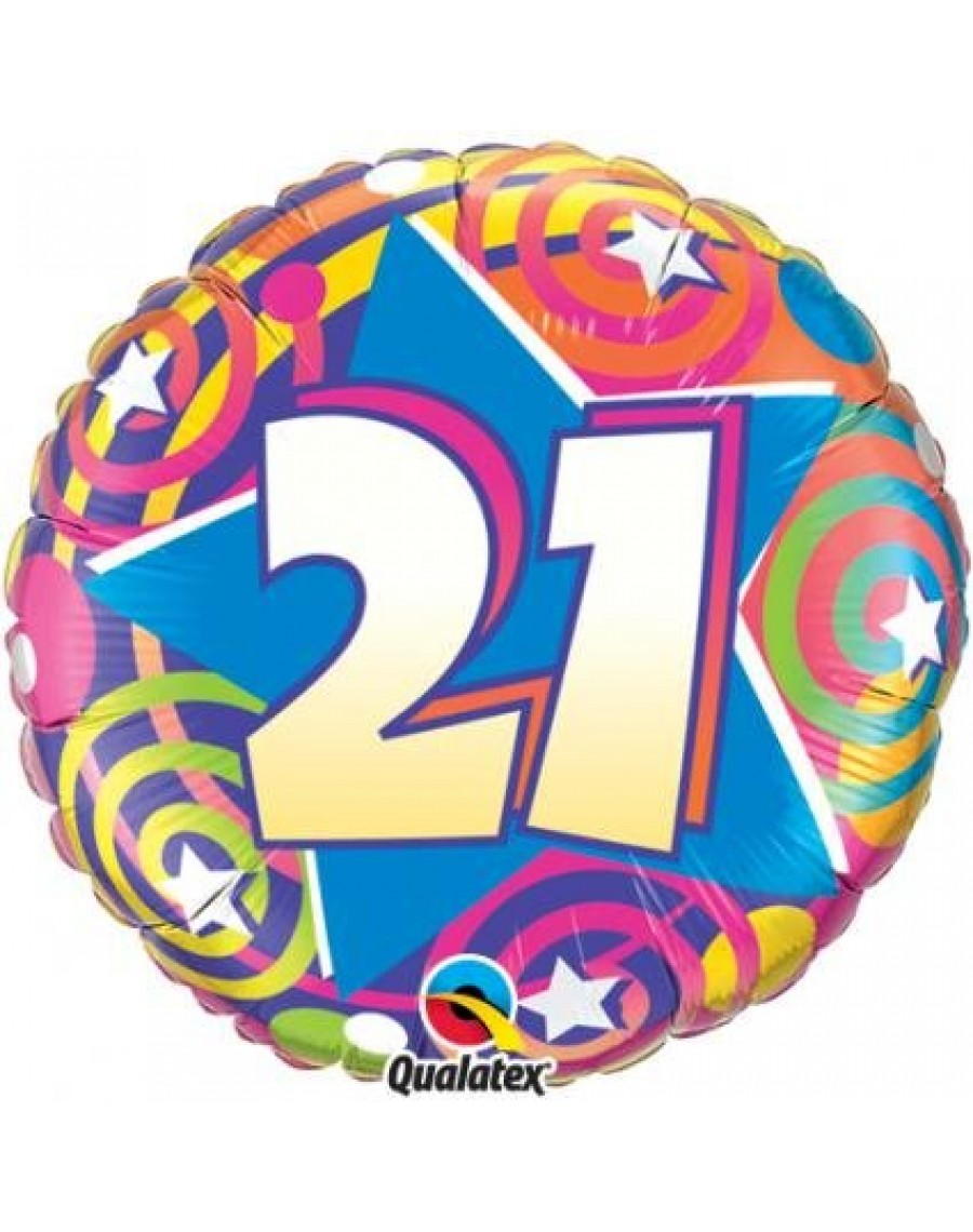 Foil Helium Happy 21st Birthday Balloon Q87138
