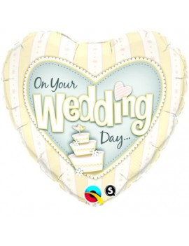 Foil Helium On Your Wedding Day Balloon Q31078