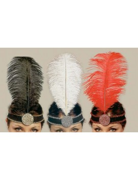 1920s flapper Gatsby party accessory feathered headband Palmer Agencies 4260