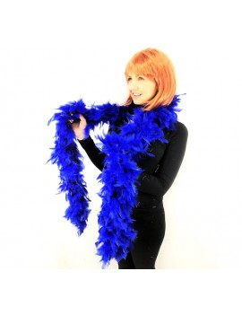 1920s Gatsby charleston flapper party feather boa blue Stylex Party ST4872