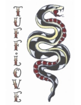 1940s   vintage Snake/Tuff Love professional theatrical  tattoo Tinsley Transfers