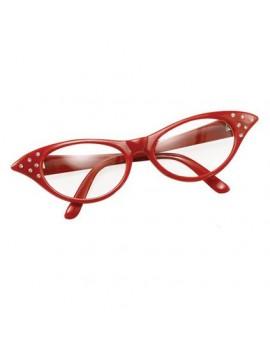 1950s Glasses Diamonte Red Bristol Novelty BA142R