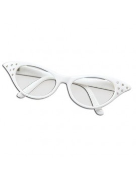 1950s Diamante White Glasses