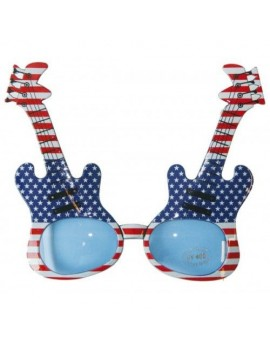 1960s 70s rock star Stars and Stripes novelty glasses   party accessory Folat FO-00717