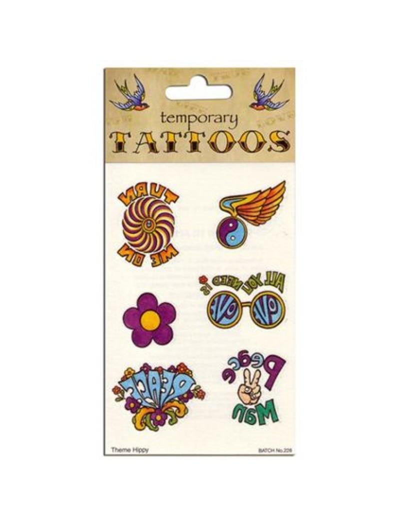 60s 70s Hippy Temporary Tattoos Tattoo You GJ273