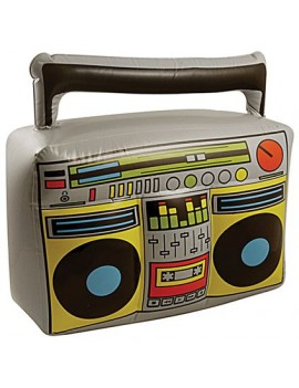 1980s 90s rapper inflatable blow up boom box ghetto blaster stereo fancy dress costume party prop Henbrandt IJ044