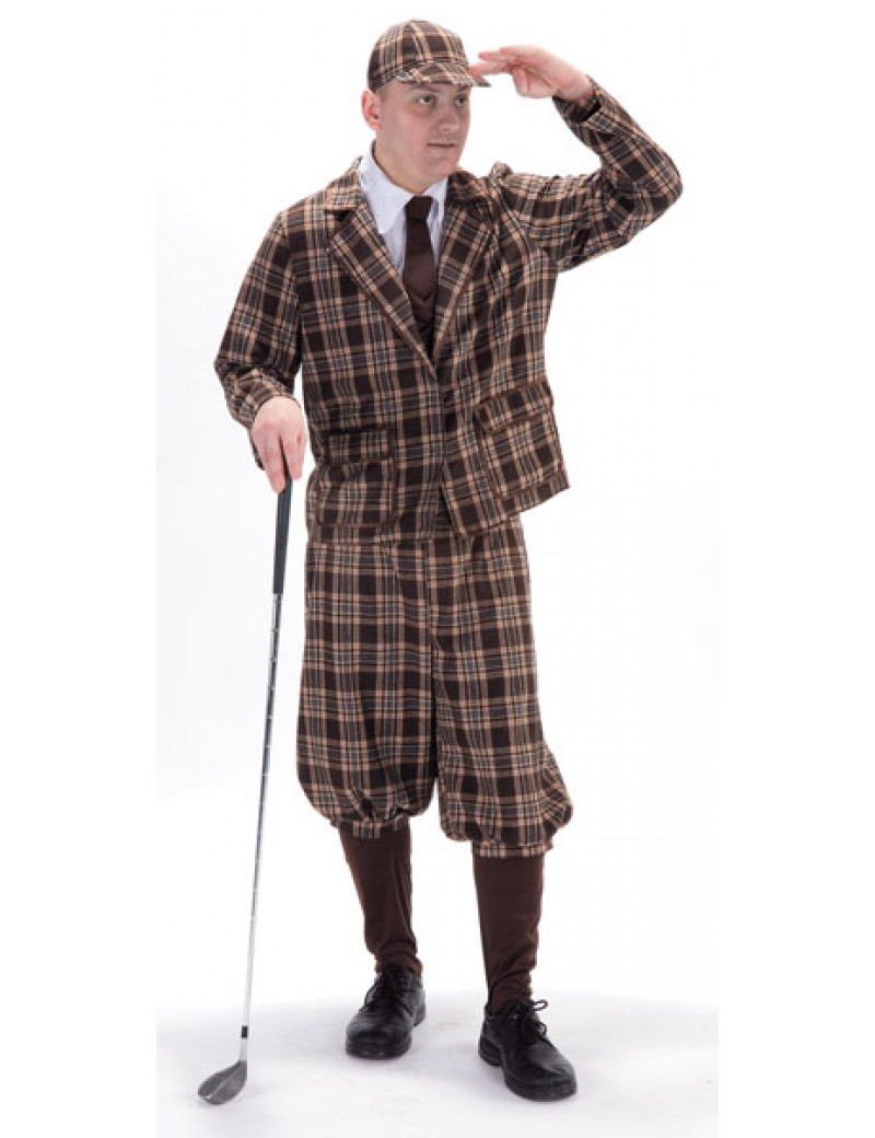 30s 40s period vintage golfer mens Goodwood pub golf fancy dress costume Palmer Agencies 3131