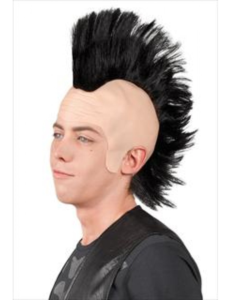 70s 80s punk mohawk mohican black Sid Vicious wig Boland 5318
