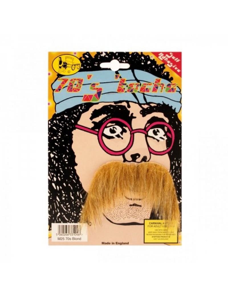 70s Moustache Blonde