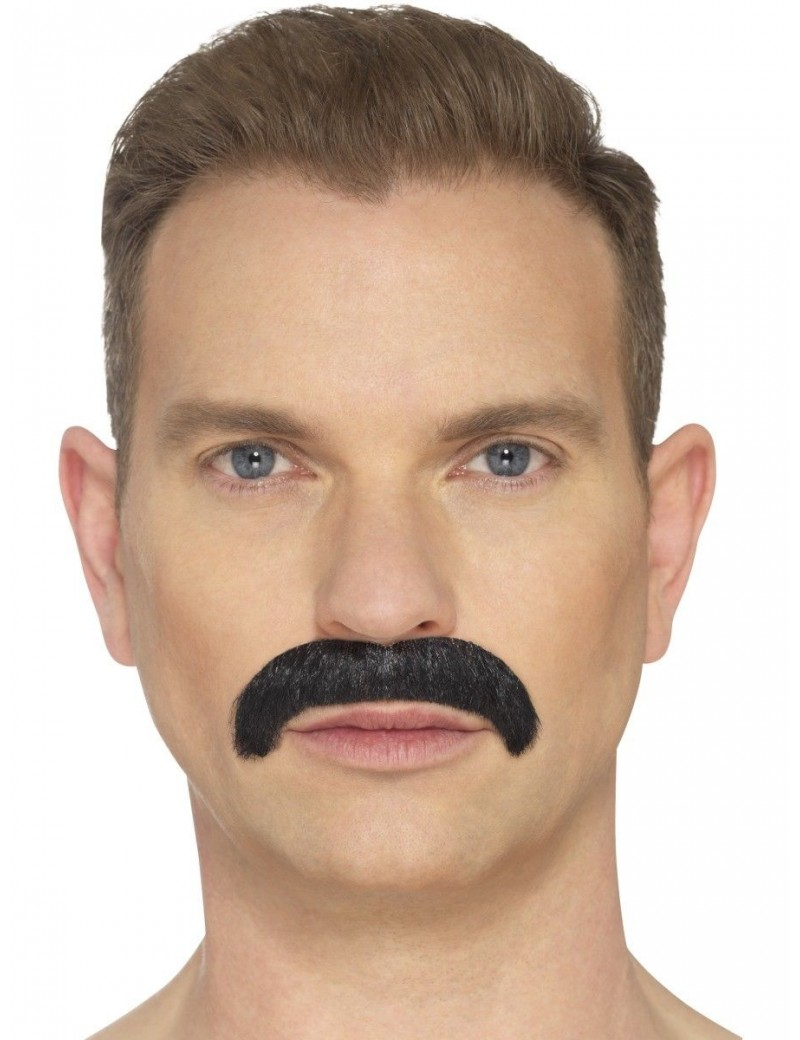 Horseshoe Moustache Black Smiffys 44703