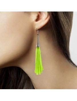 80s Earrings Neon Green Folat FO-21726