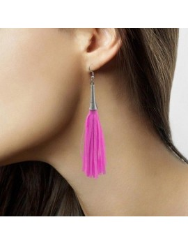 80s Earrings Neon Pink Folat FO-21724