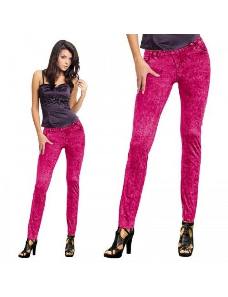80s neon print retro  costume jean leggings jeggings Pink  FO-29152