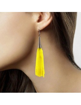 80s Earrings Neon Yellow Folat FO-21725