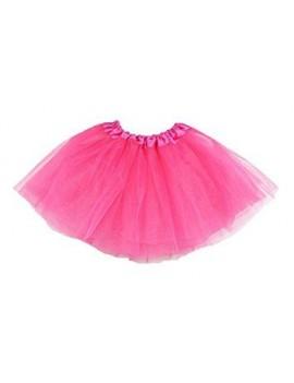 80s net tutu bright neon pink ladies girls ra ra  skirt 52017