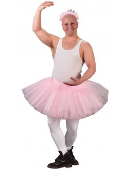 80s ra ra net fairy stag mens tutu baby pink Large Palmers 3315