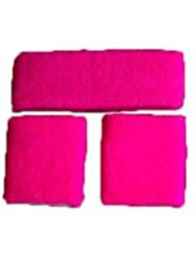 Sweatband Set Neon Pink 64189