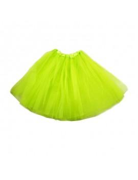 80s net tutu bright Neon Yellow ladies girls ra ra skirt 64359