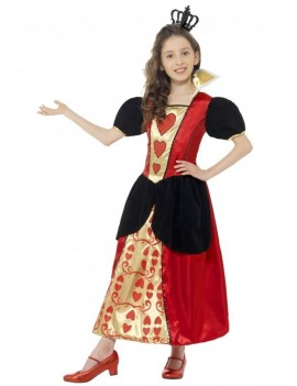 Alice In Wonderland Miss Queen of Hearts girls deluxe fancy dress party book day costume Smiffys 44458