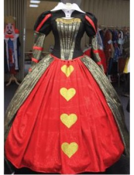Alice In Wonderland Red Queen Of Hearts Disney themed deluxe hire costume Make Believe CG14A