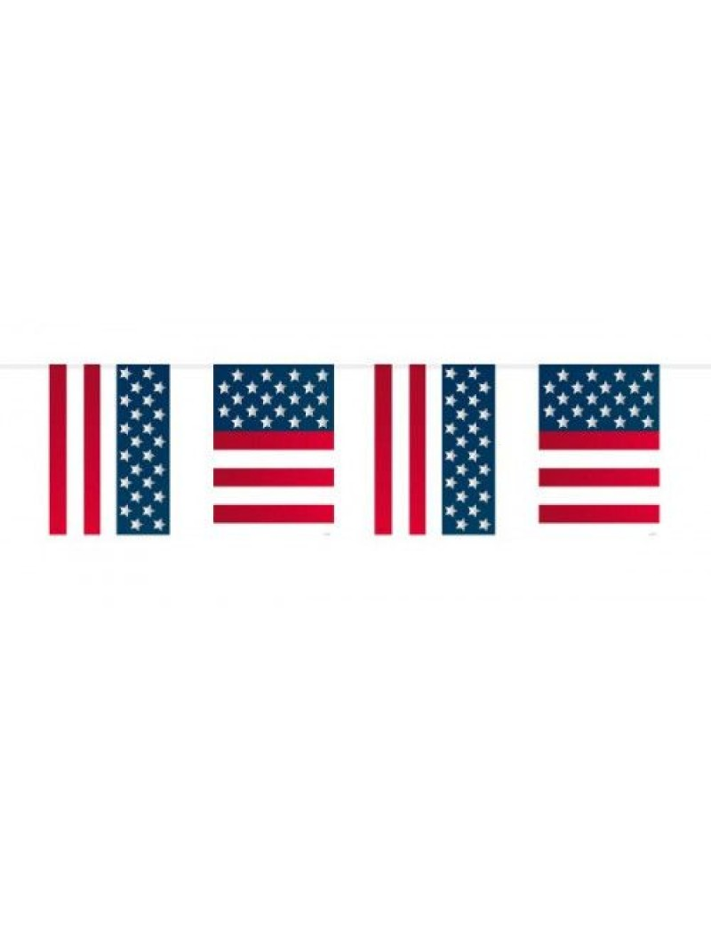 American stars and stripes flag  plastic bunting room hall decoration Creative collection FO-29655