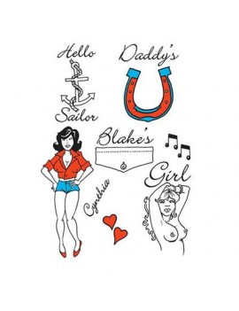Amy Winehouse temporary fancy dress accessory tattoo character popstar set Tattoo You GJ281